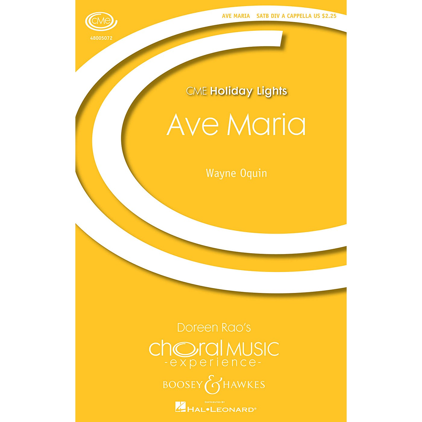 Boosey and Hawkes Ave Maria (CME Holiday Lights) SATB DV A Cappella composed by Wayne Oquin thumbnail