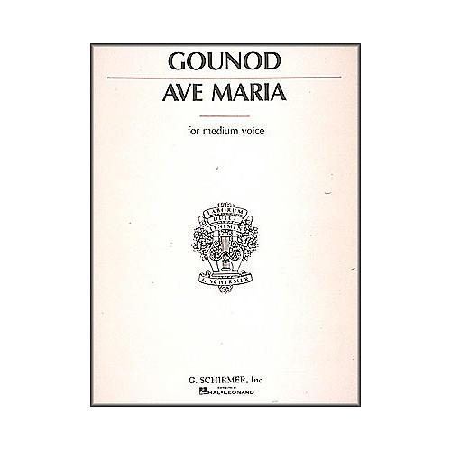 G. Schirmer Ave Maria In E Flat for Medium Voice By Bach / Gounod thumbnail