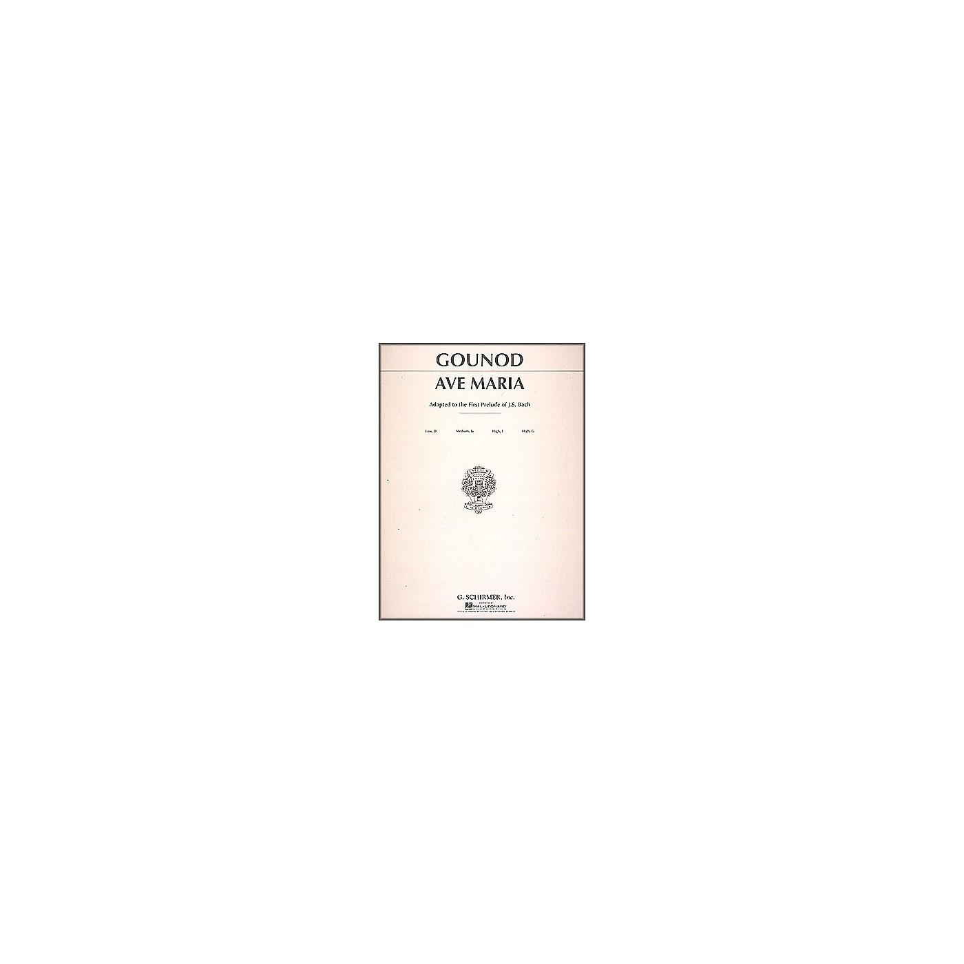 G. Schirmer Ave Maria In F for Medium High Voice By Bach / Gounod thumbnail