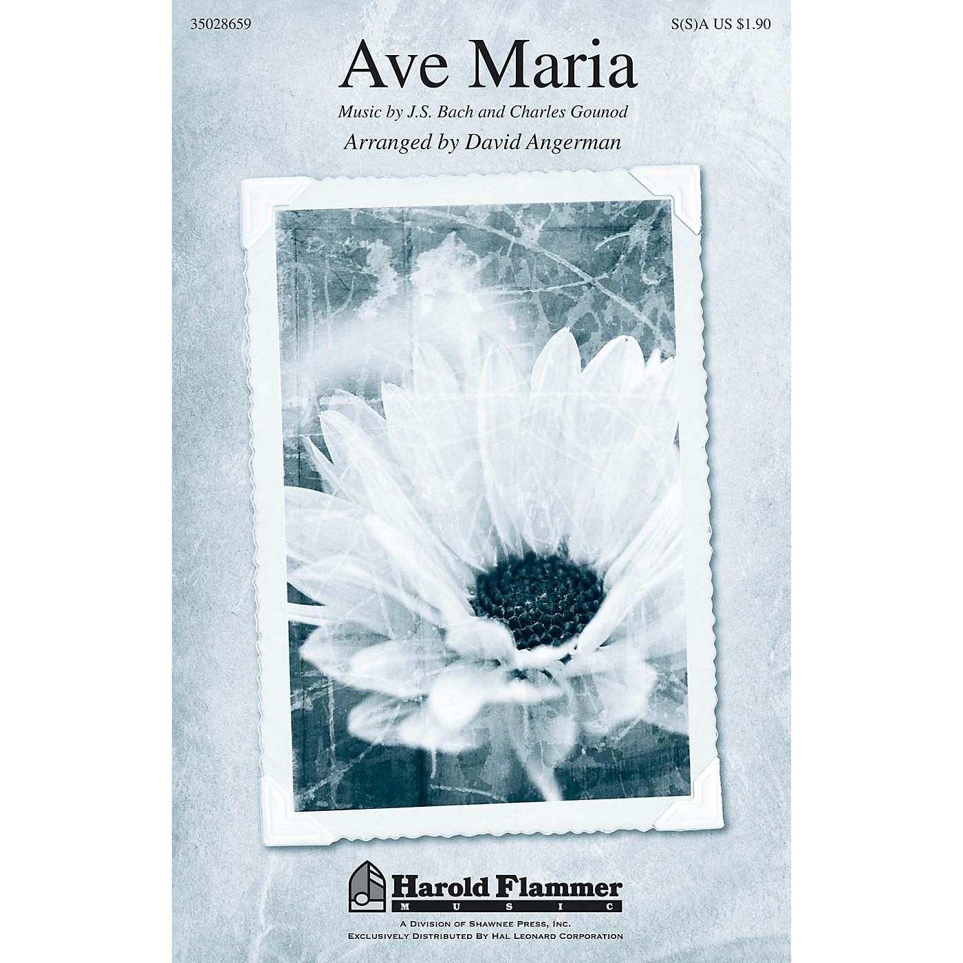 Shawnee Press Ave Maria SA with optional 2nd sop arranged by David Angerman thumbnail