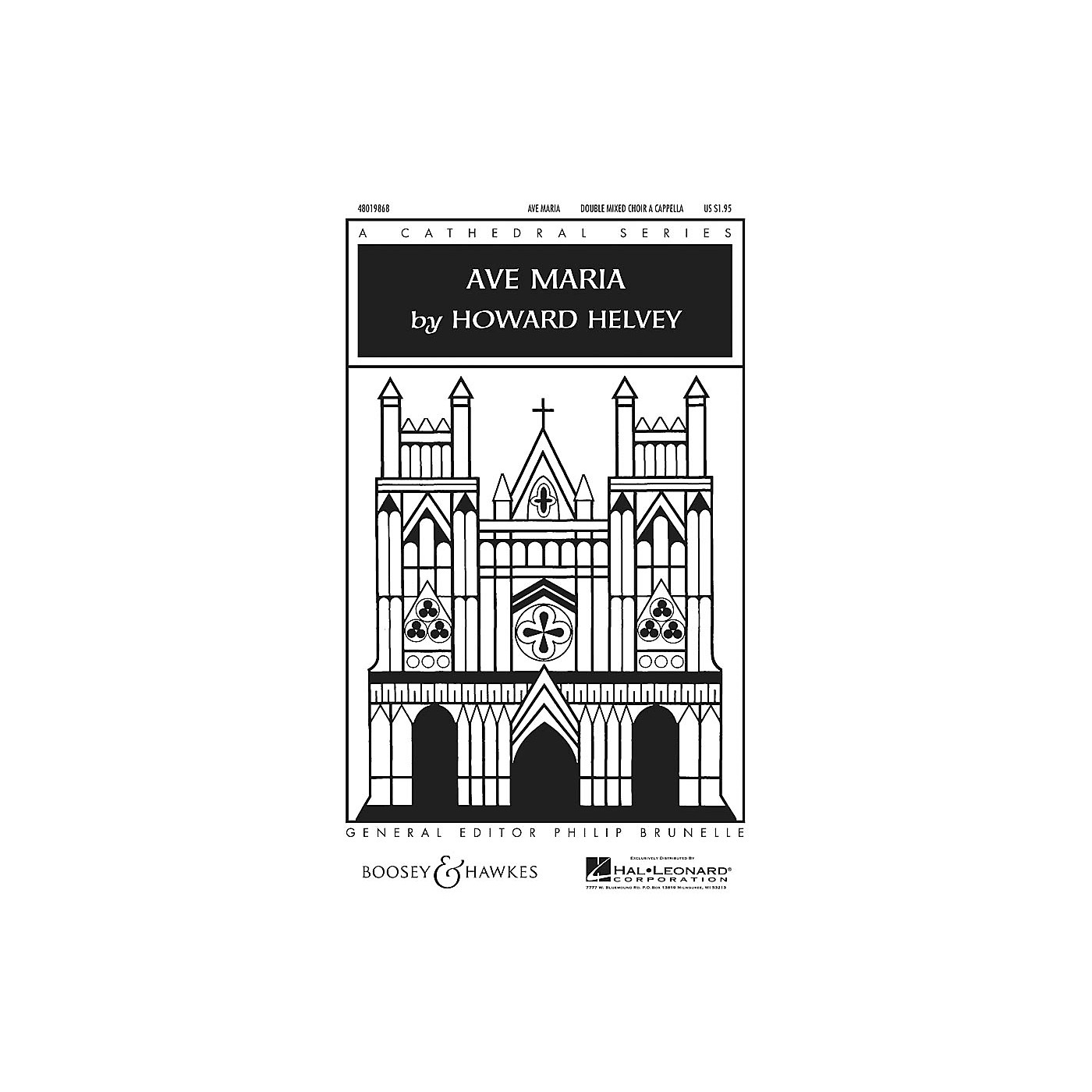 Boosey and Hawkes Ave Maria SATB Double Choir composed by Howard Helvey thumbnail