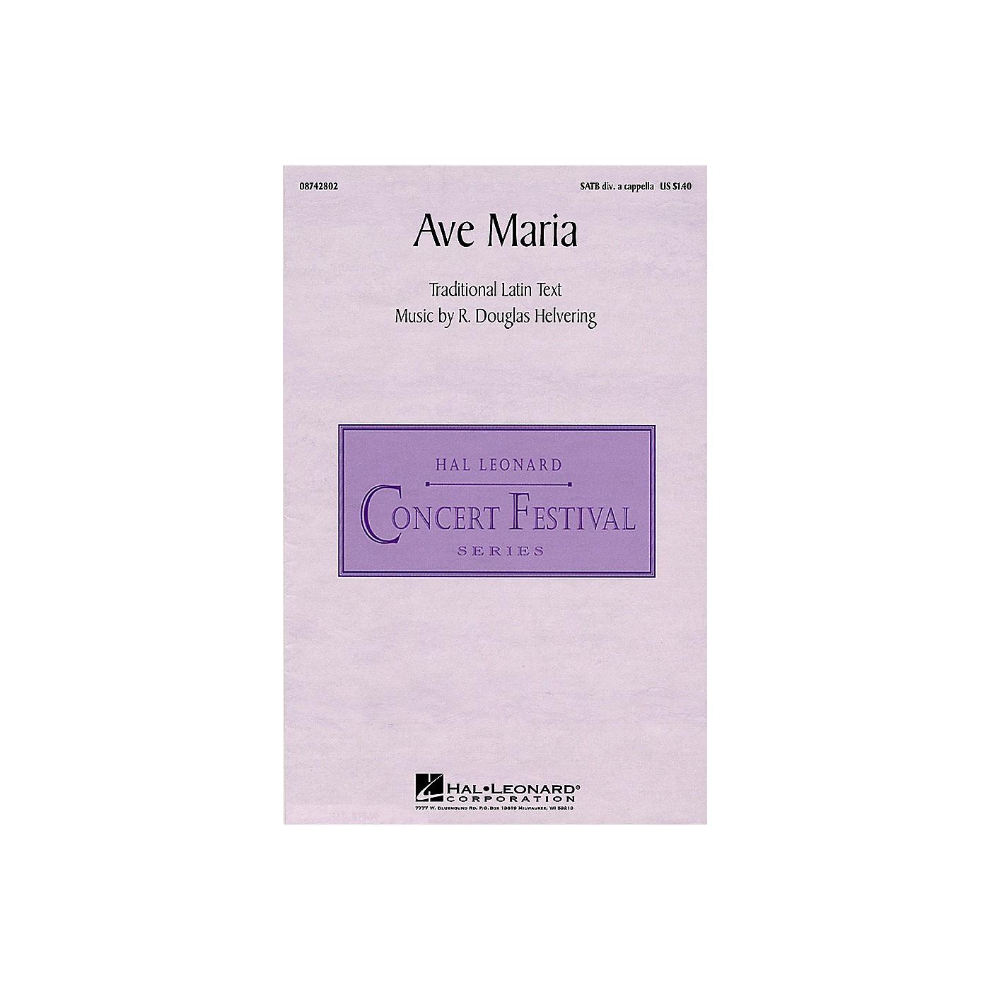 Hal Leonard Ave Maria (SATB divisi) SATB DV A Cappella composed by R. Douglas Helvering thumbnail