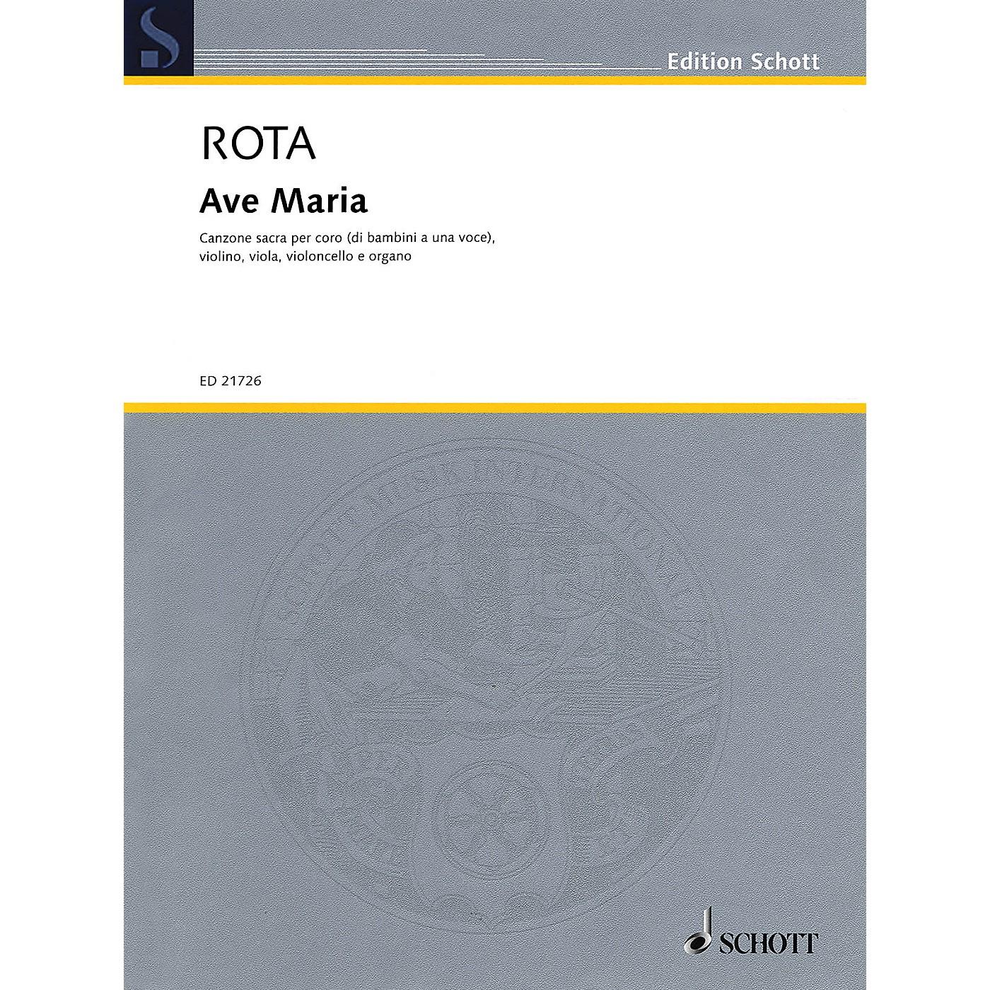 Schott Ave Maria Score & Parts Composed by Nino Rota thumbnail
