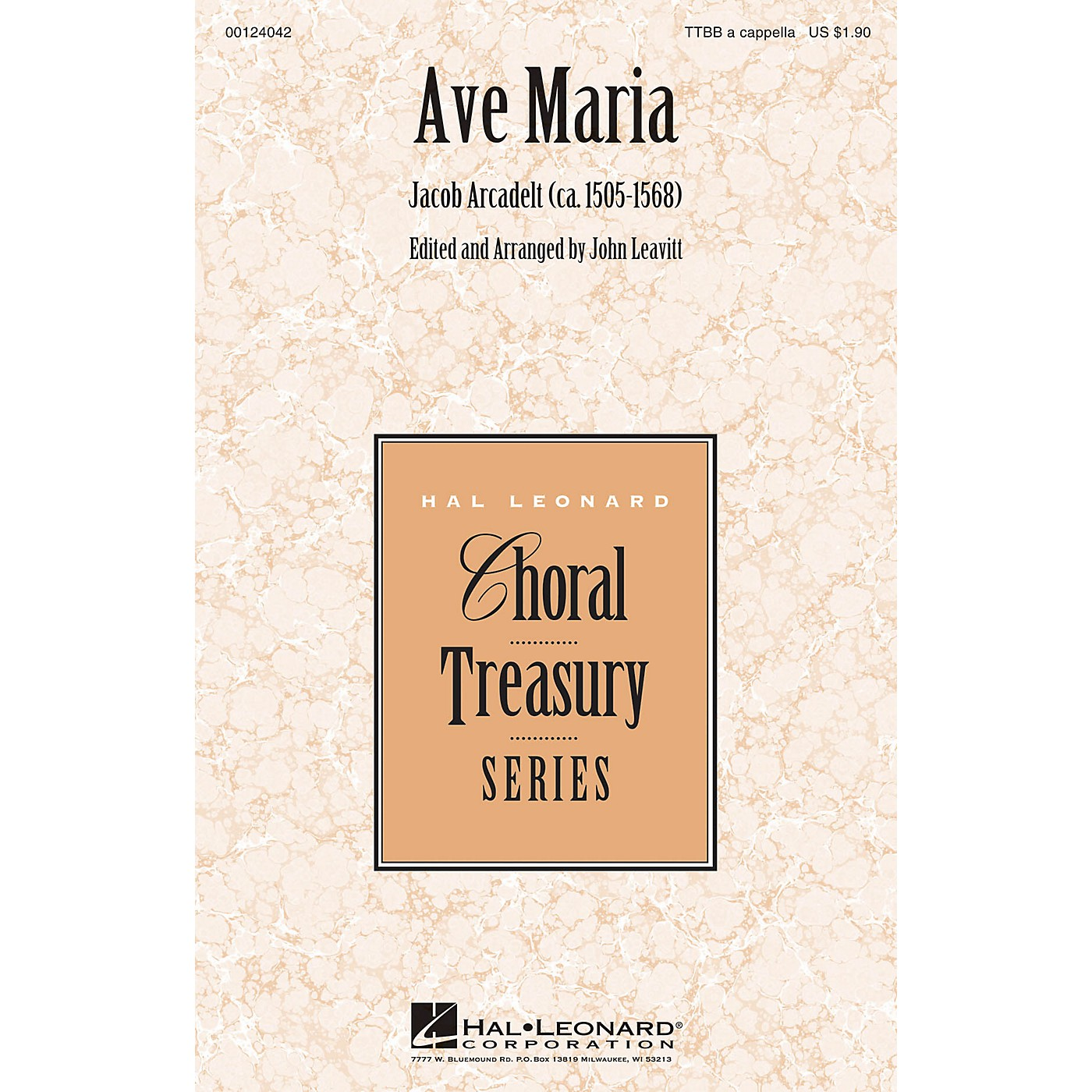 Hal Leonard Ave Maria TTBB A Cappella arranged by John Leavitt thumbnail