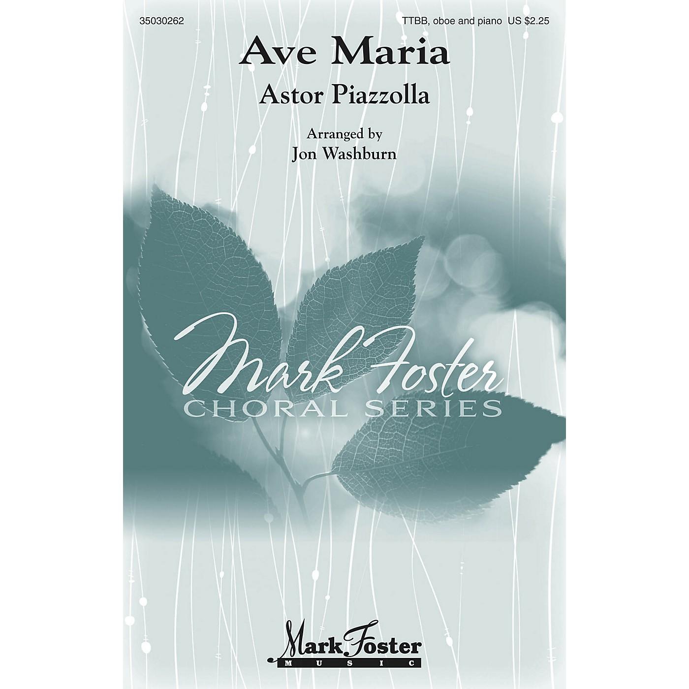 Mark Foster Ave Maria (TTBB, Oboe and Piano) TTBB arranged by Jon Washburn thumbnail