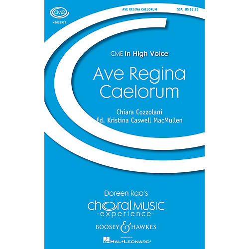 Boosey and Hawkes Ave Regina Caelorum (CME In High Voice) SSA arranged by Kristina MacMullen thumbnail