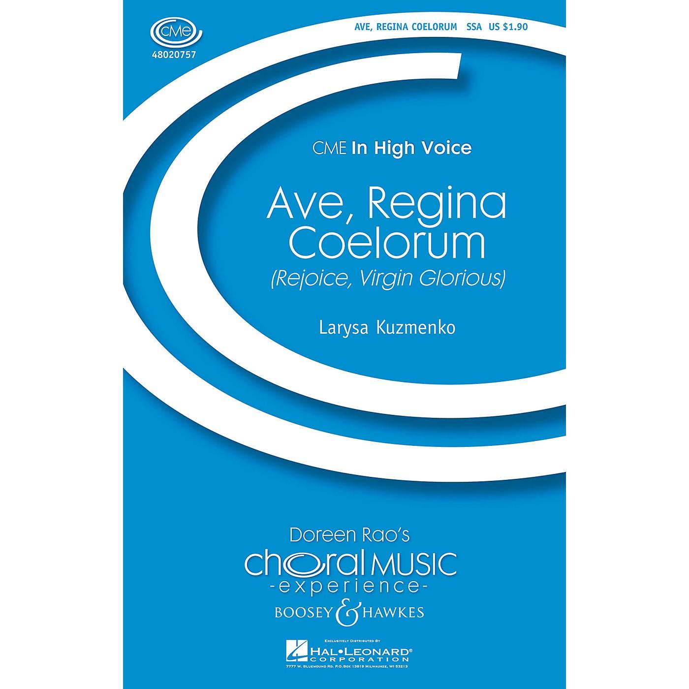 Boosey and Hawkes Ave, Regina Coelorum (Rejoice, Virgin Glorious) CME In High Voice SSA composed by Larysa Kuzmenko thumbnail
