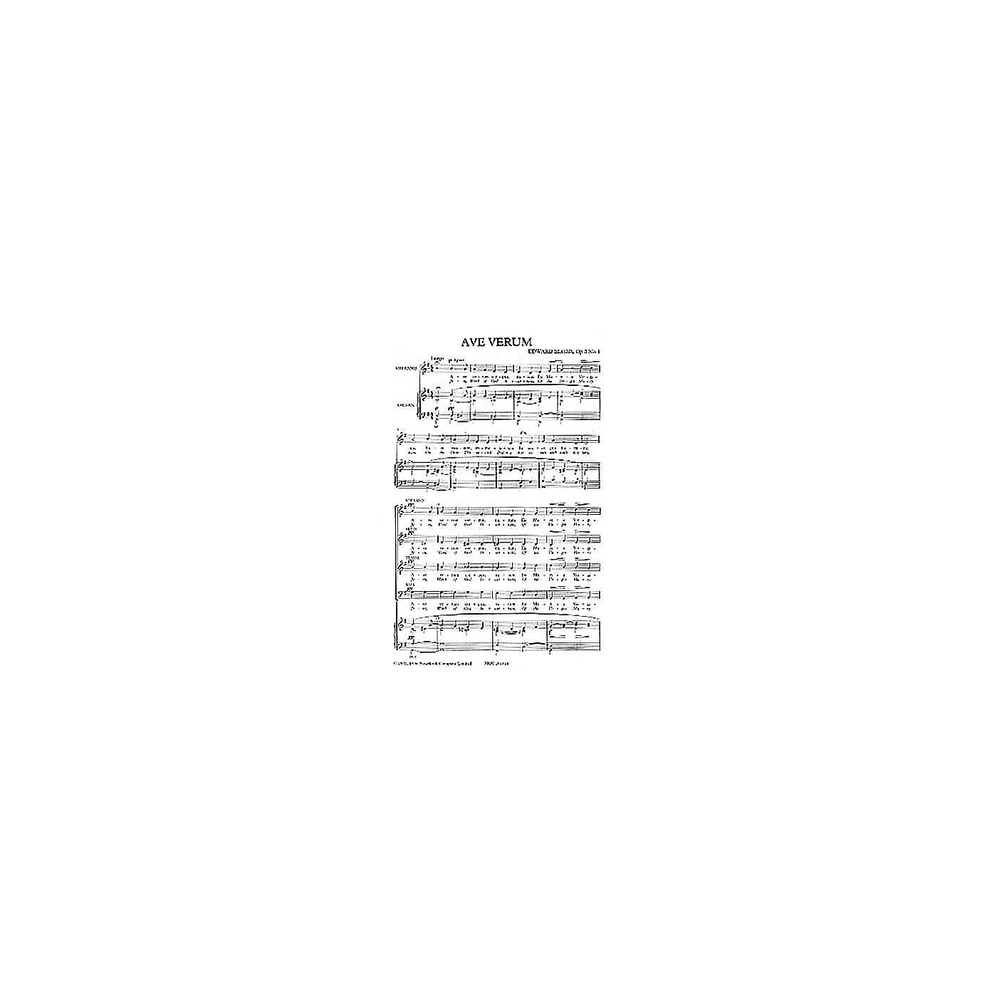Novello Ave Verum - Op. 2, No. 1 SATB Composed by Edward Elgar thumbnail