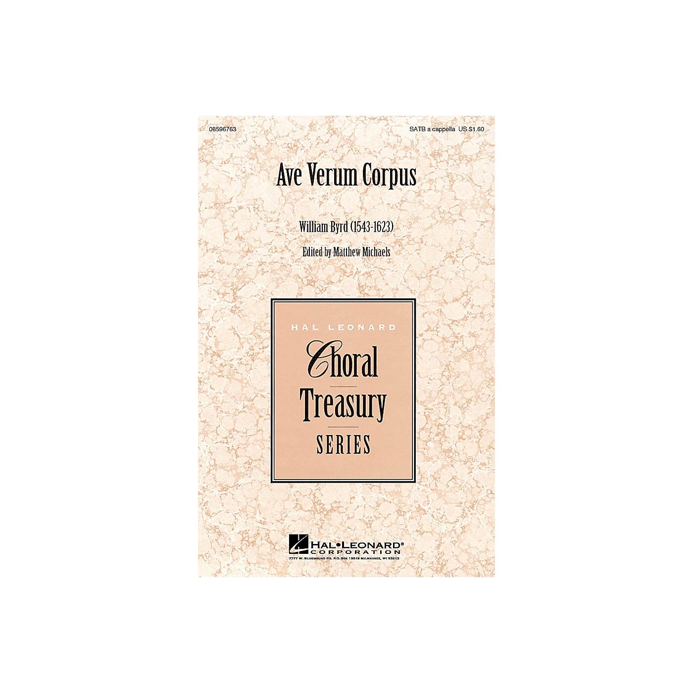 Hal Leonard Ave Verum Corpus SATB a cappella arranged by Matthew Michaels, editor thumbnail