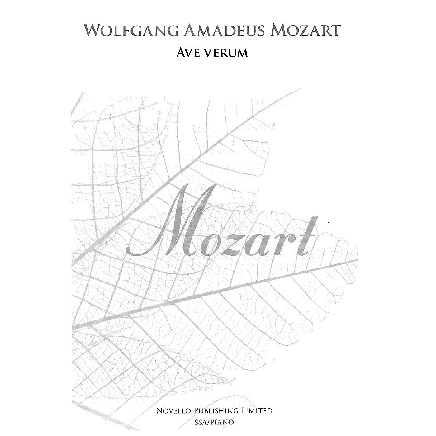 Novello Ave Verum SSA Composed by Wolfgang Amadeus Mozart Edited by Brian Trant thumbnail