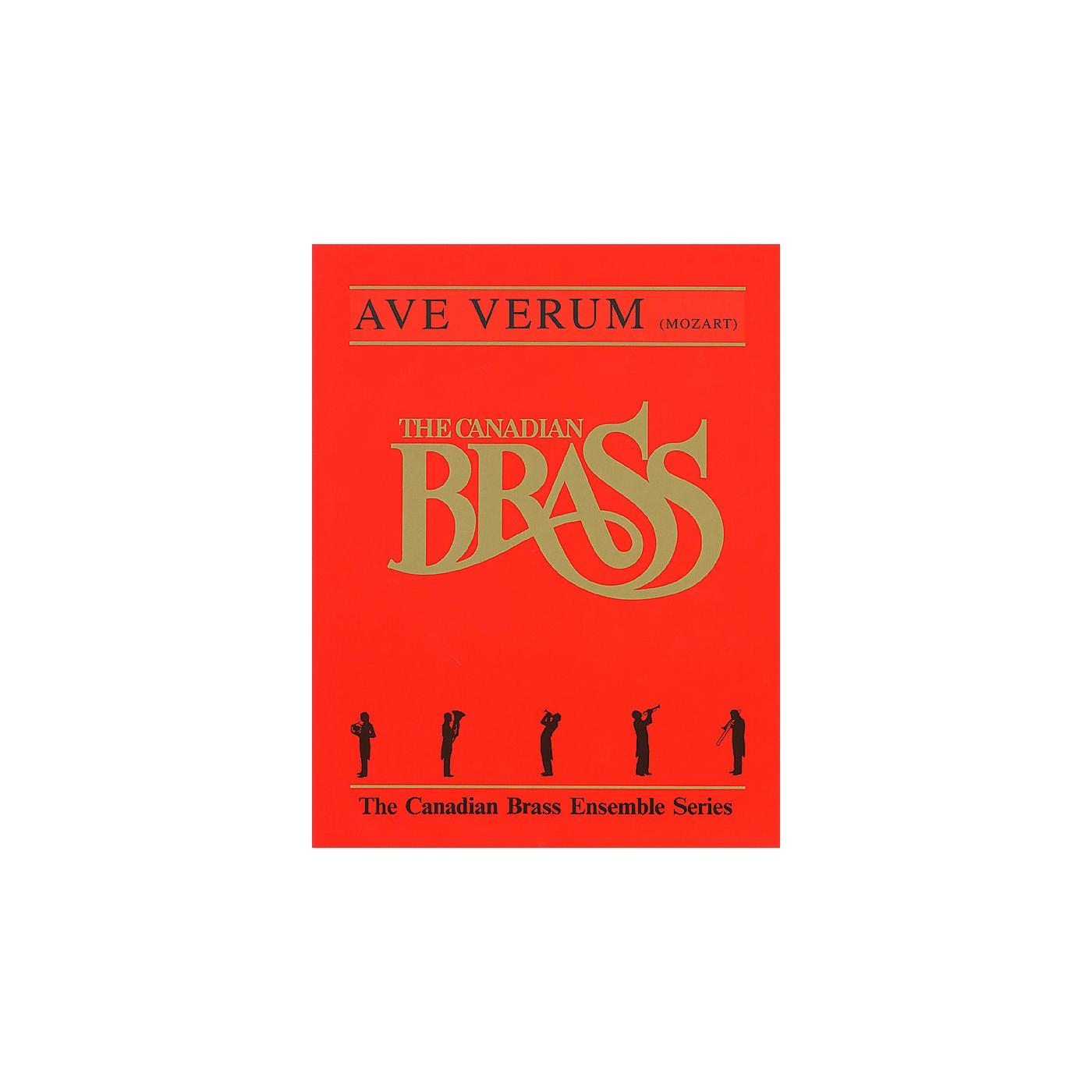 Hal Leonard Ave Verum (Score and Parts) Brass Ensemble Series by Wolfgang Amadeus Mozart thumbnail