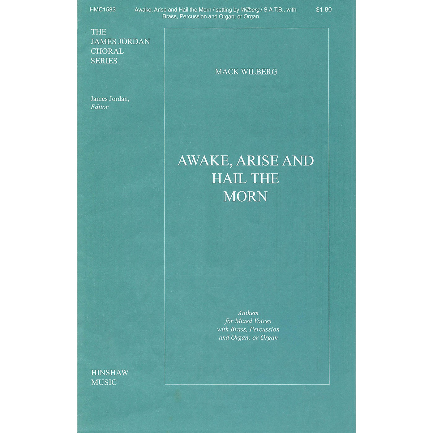 Hinshaw Music Awake, Arise and Hail the Morn SATB arranged by Mack Wilberg thumbnail