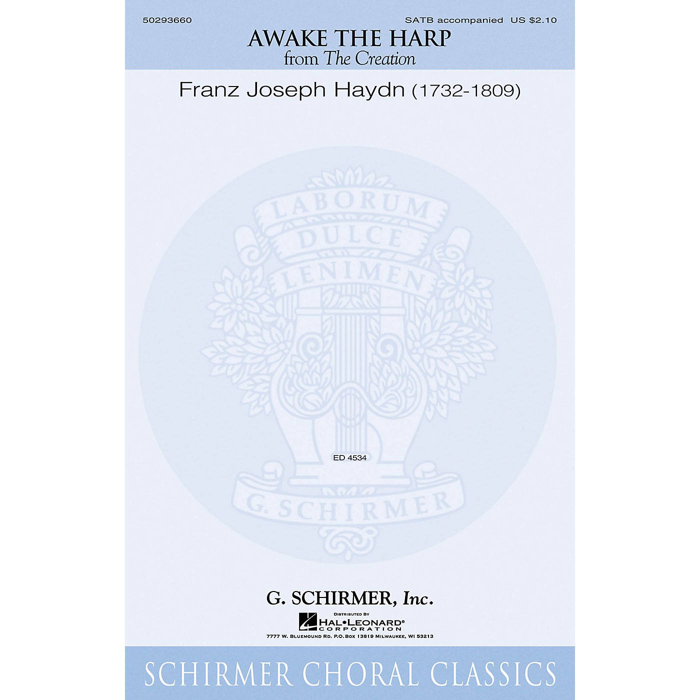 G. Schirmer Awake the Harp (from The Creation) SATB composed by Franz Joseph Haydn thumbnail