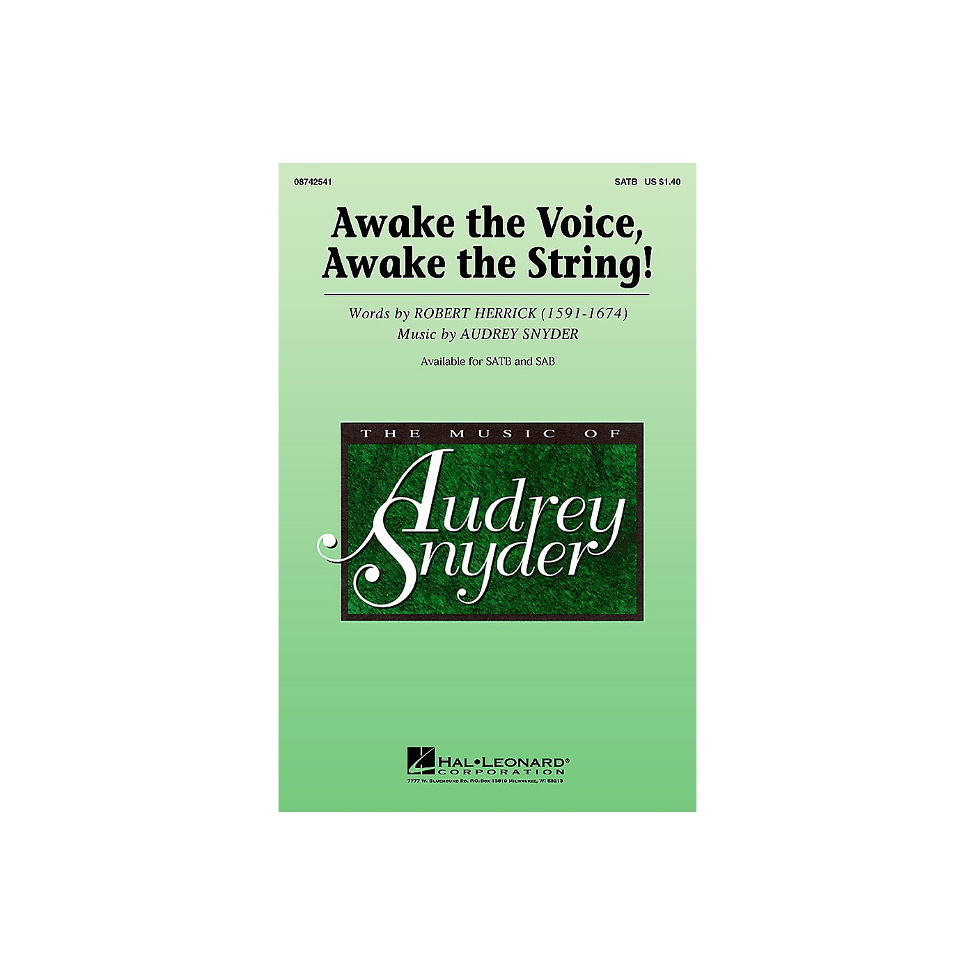 Hal Leonard Awake the Voice, Awake the String! SATB composed by Audrey Snyder thumbnail