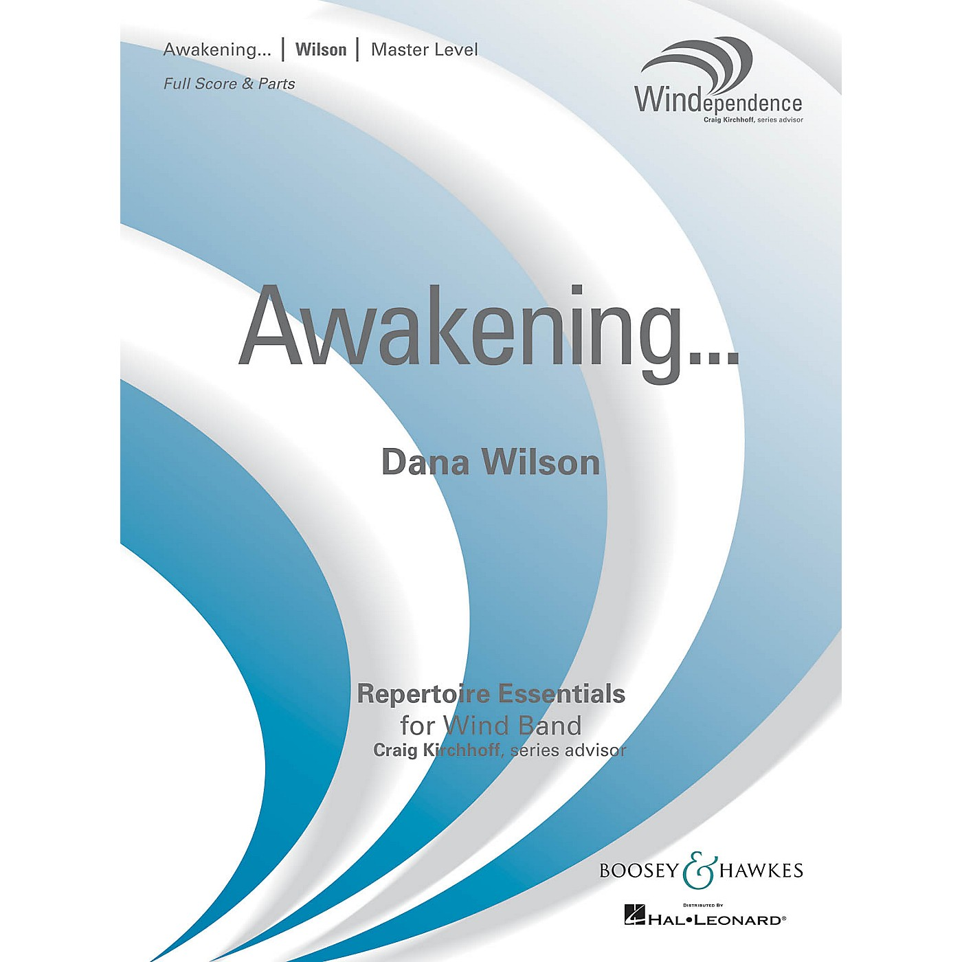 Boosey and Hawkes Awakening... (Score Only) Concert Band Level 4 Composed by Dana Wilson thumbnail