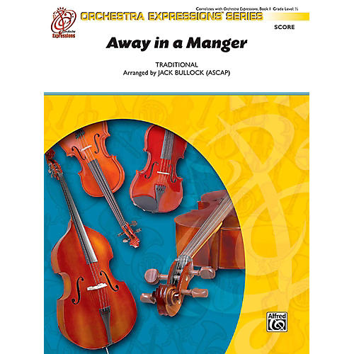 Alfred Away in a Manger String Orchestra Grade 0.5 thumbnail