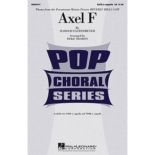 Hal Leonard Axel F (from Beverly Hills Cop) SATB a cappella arranged by Deke Sharon thumbnail