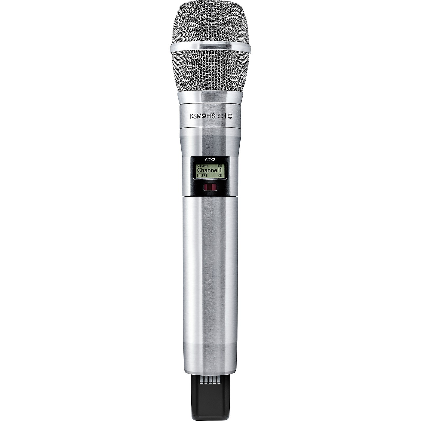 Shure Axient Digital ADX2/K9HSN Wireless Handheld Microphone Transmitter with KSM9HS Capsule in Nickel thumbnail