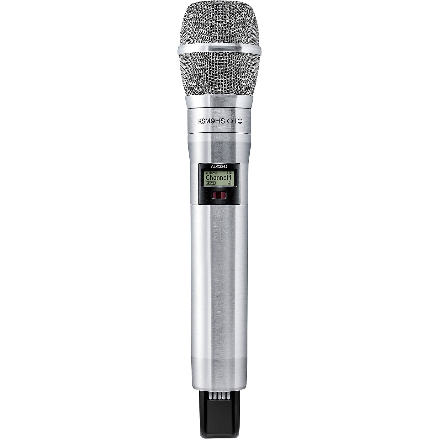 Shure Axient Digital ADX2FD/K9HSN Wireless Handheld Microphone Transmitter With KSM9HS Capsule in Nickel thumbnail