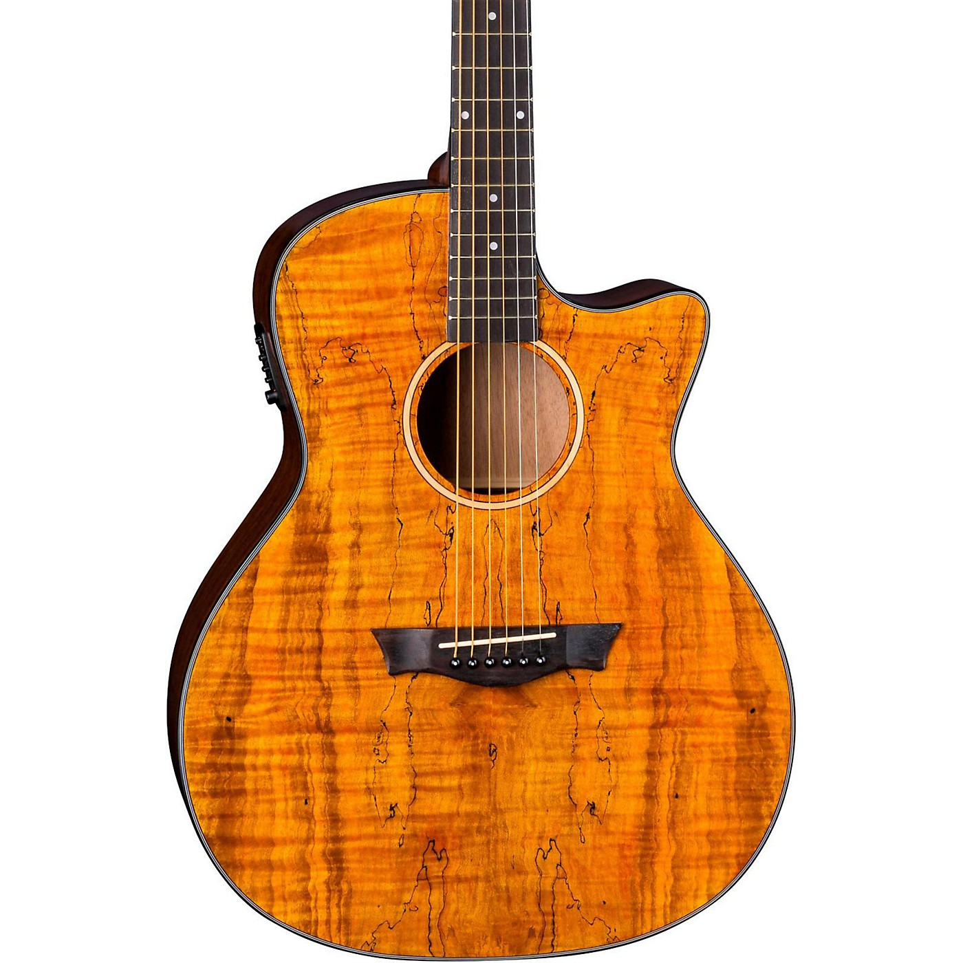 Dean Axs Exotic Gloss Spalt Maple Cutaway Acoustic-Electric Guitar thumbnail