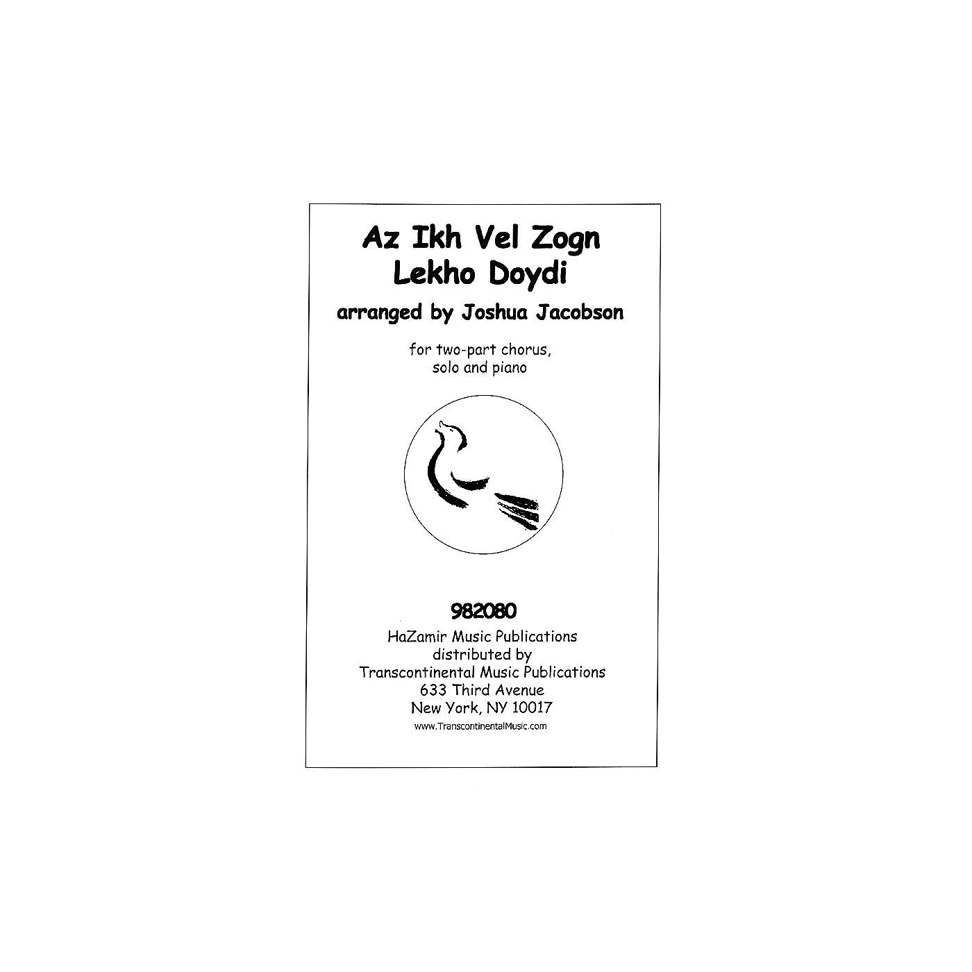 Transcontinental Music Az Ikh Vel Zogn Lekho Doydi SA arranged by Joshua Jacobson thumbnail