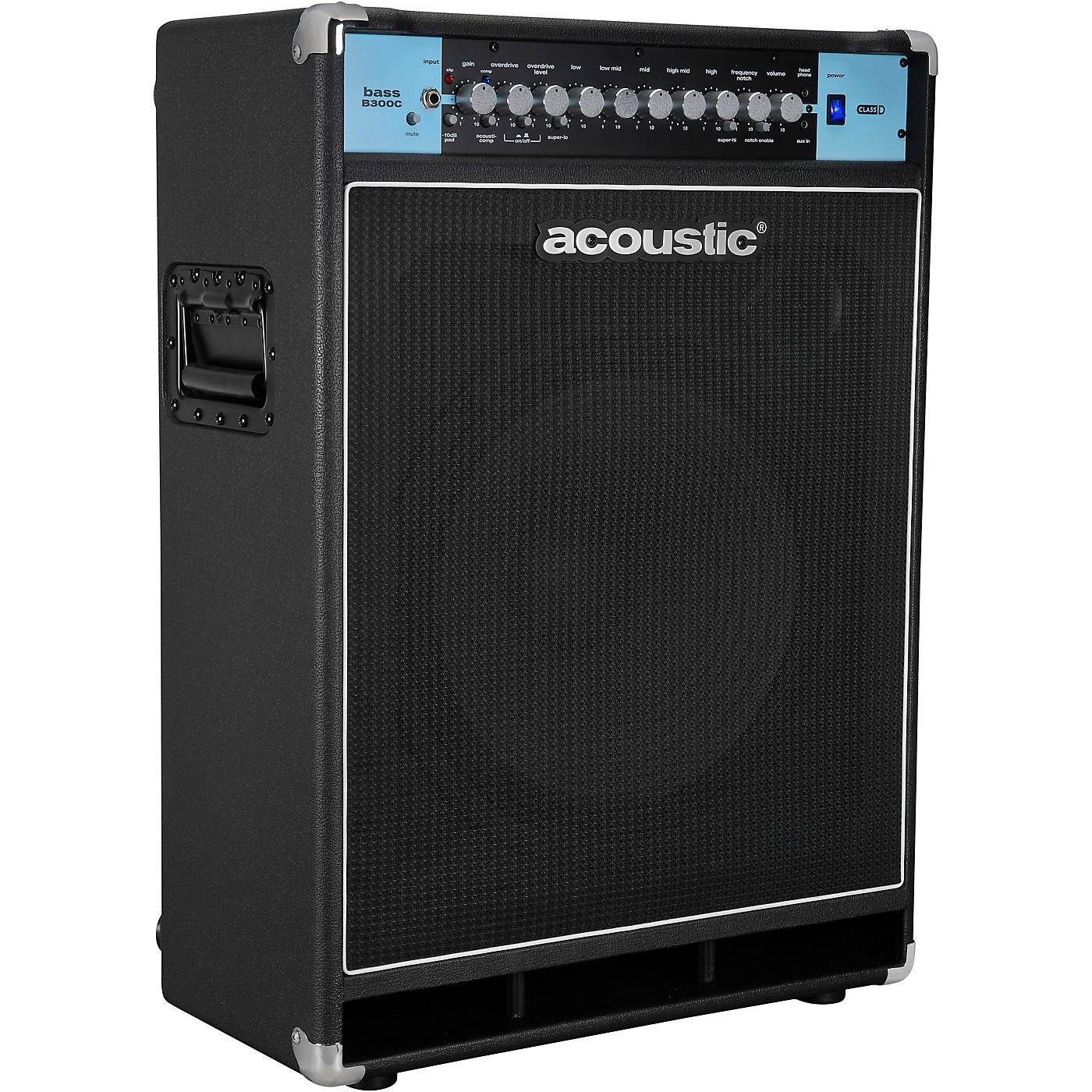 Acoustic B300C 1X15 300W Bass Combo with Tilt-Back Cabinet thumbnail