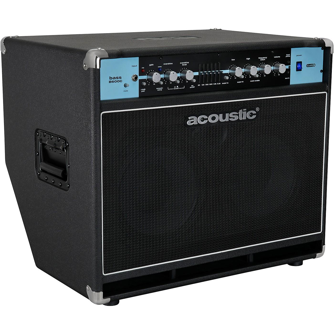Acoustic B600C 2x10 600W Bass Combo with Tilt-Back Cabinet thumbnail