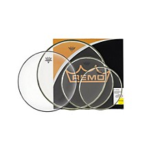 "Remo BA Pro Pack 10"", 12"" and 16"" Clear with Free 14"" Hazy"