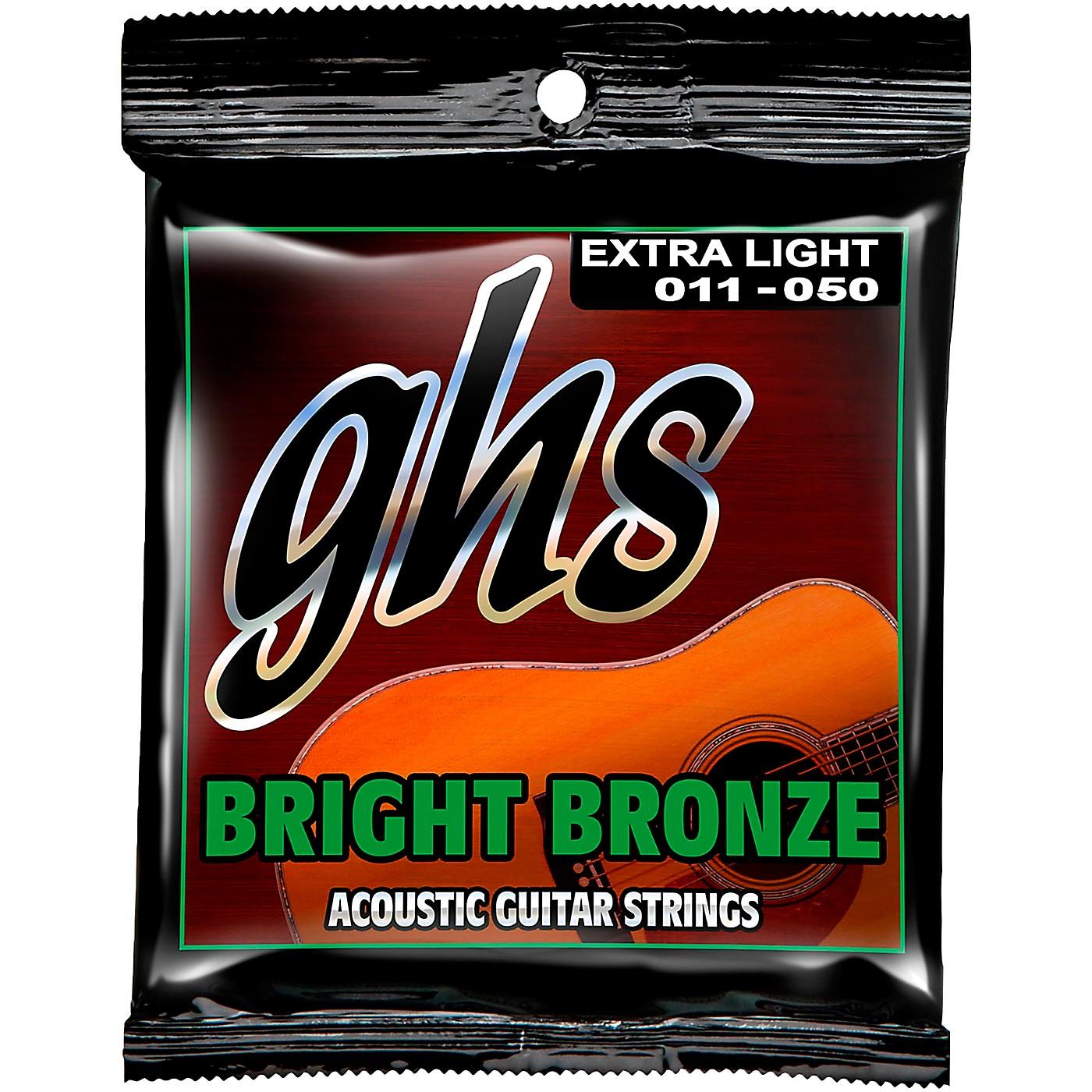 GHS BB20X 80/20 Bronze Extra Light Acoustic Guitar Strings thumbnail