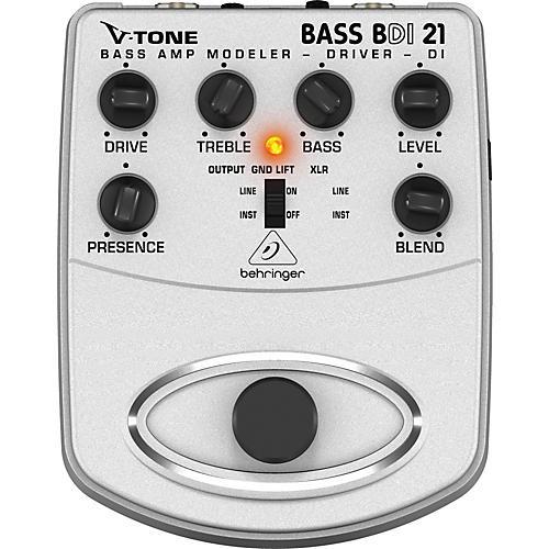 Behringer BDI21 V-Tone Bass Driver Bass Amp Modeler/Direct Recording Preamp/DI Box Pedal thumbnail