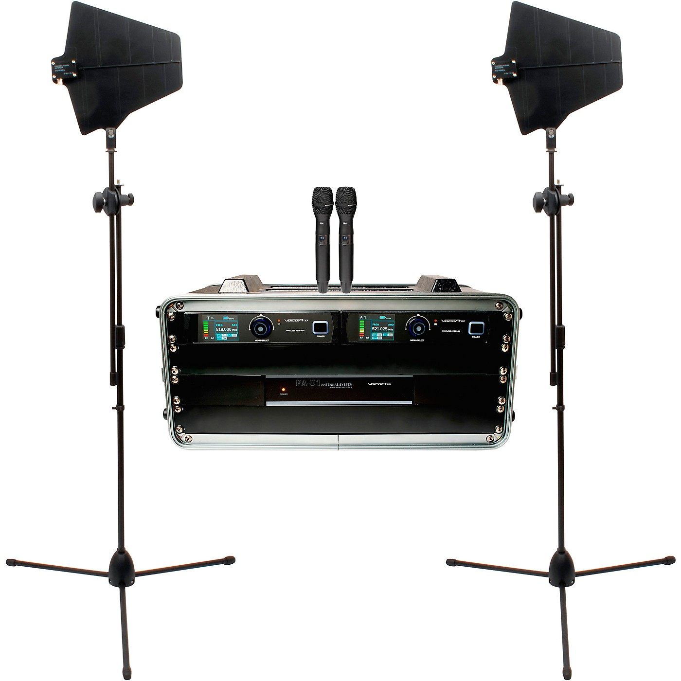 Vocopro BENCHMARK-DUAL-HH 2-Channel True Diversity Handheld Microphone System thumbnail