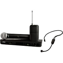 Shure BLX1288 Combo System with PGA31 Headset microphone and PG58 handheld microphone