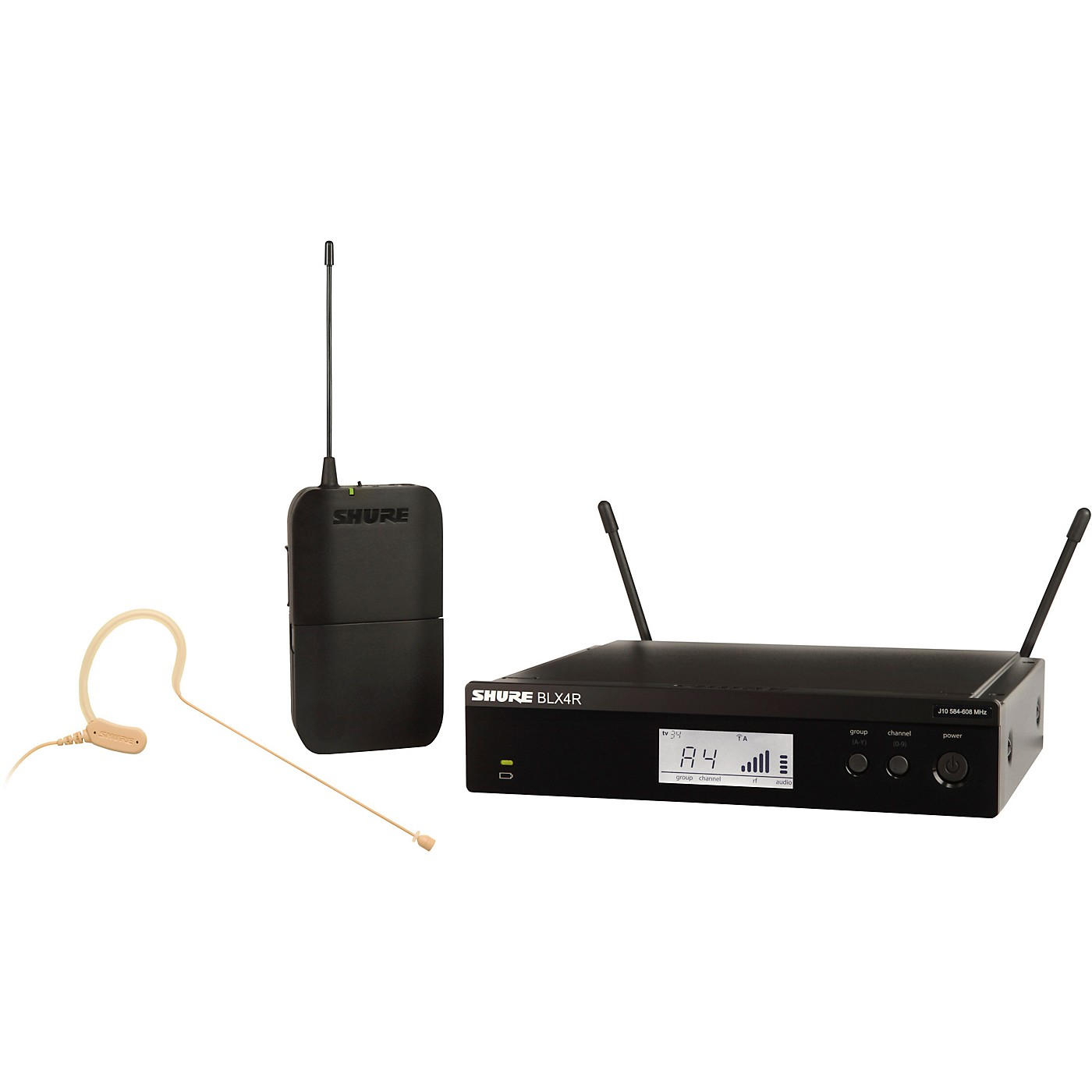 Shure BLX14R/MX53 Wireless Headset System with MX153 Headset Mic thumbnail