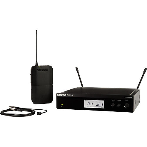 Shure BLX14R/W93 Wireless Lavalier System with WL93 Omnidirectional Condenser Miniature Lavalier Mic thumbnail