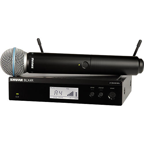 Shure BLX24R/B58 Wireless System with Rackmountable Receiver and Beta 58A Microphone Capsule thumbnail