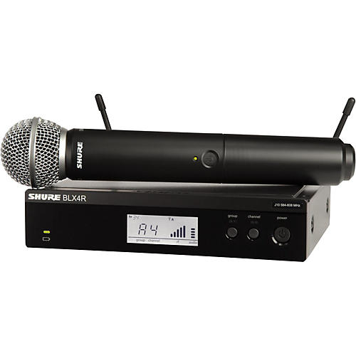 Shure BLX24R/SM58 Wireless System with Rackmountable Receiver and SM58 Microphone Capsule thumbnail