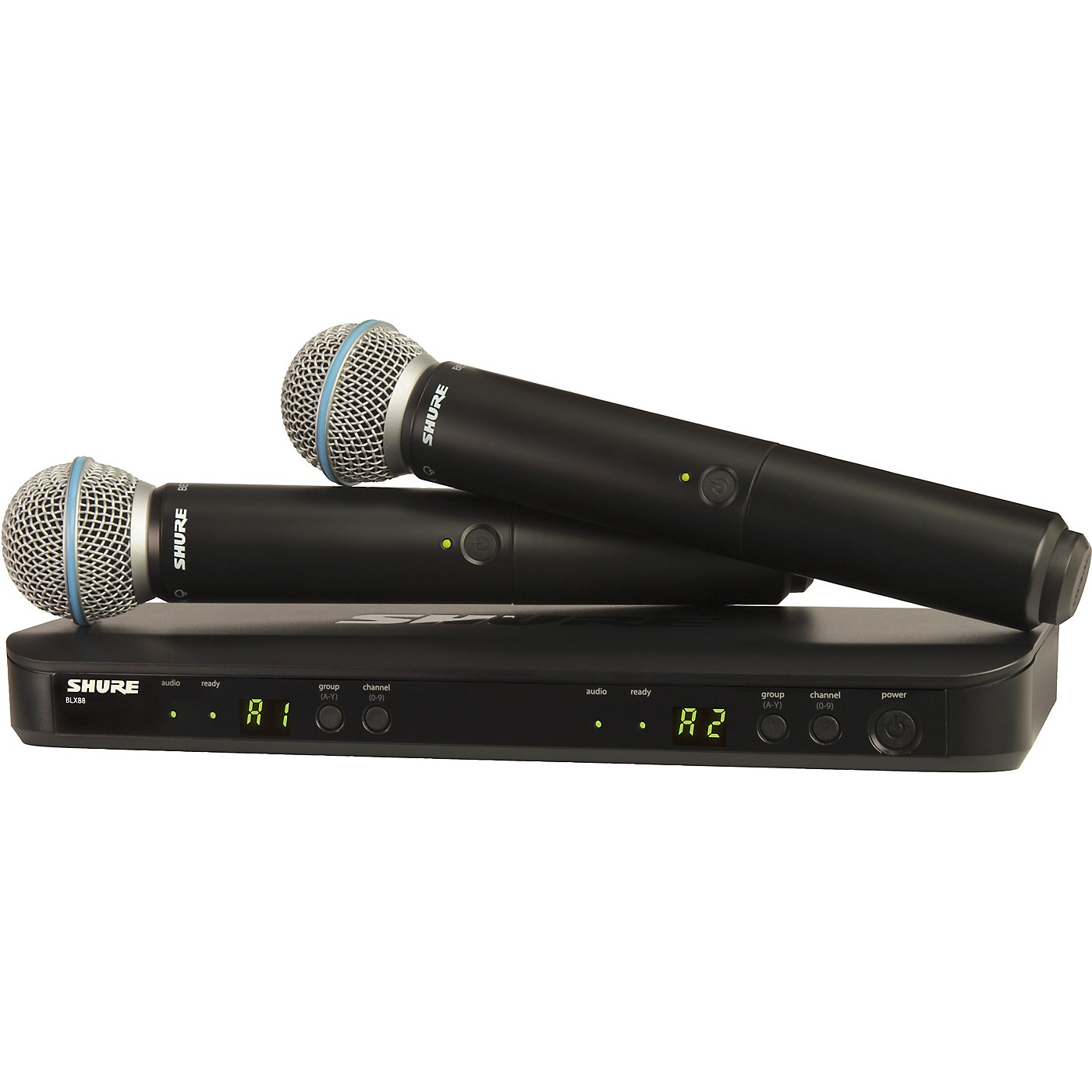 Shure BLX288/B58 Wireless Dual Vocal System with two Beta 58A Handheld Transmitters thumbnail