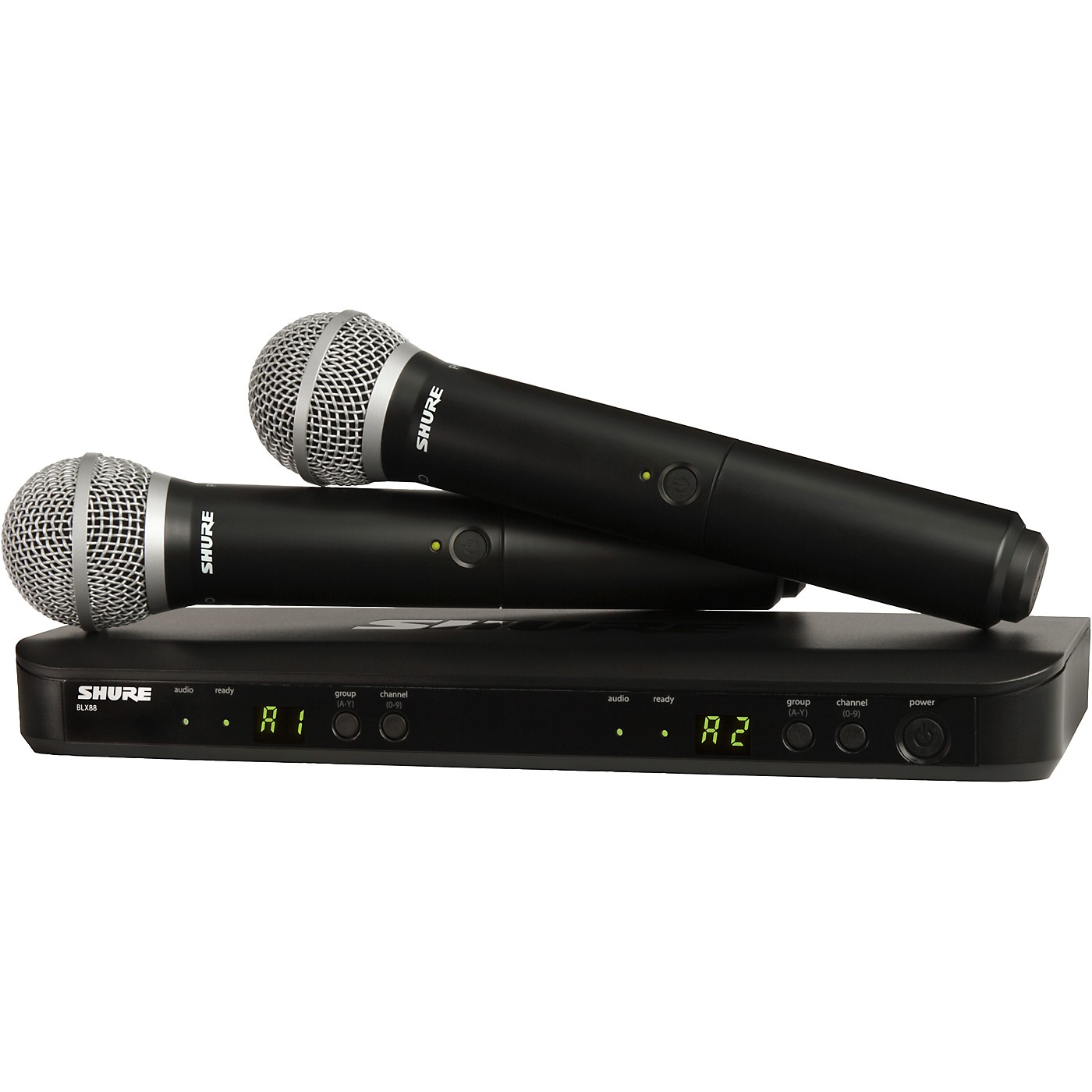 Shure BLX288/PG58 Dual-Channel Wireless System with Two PG58 Handheld Transmitters thumbnail