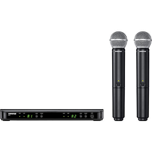 Shure BLX288/SM58 Wireless Dual Vocal System with two SM58 Handheld Transmitters thumbnail