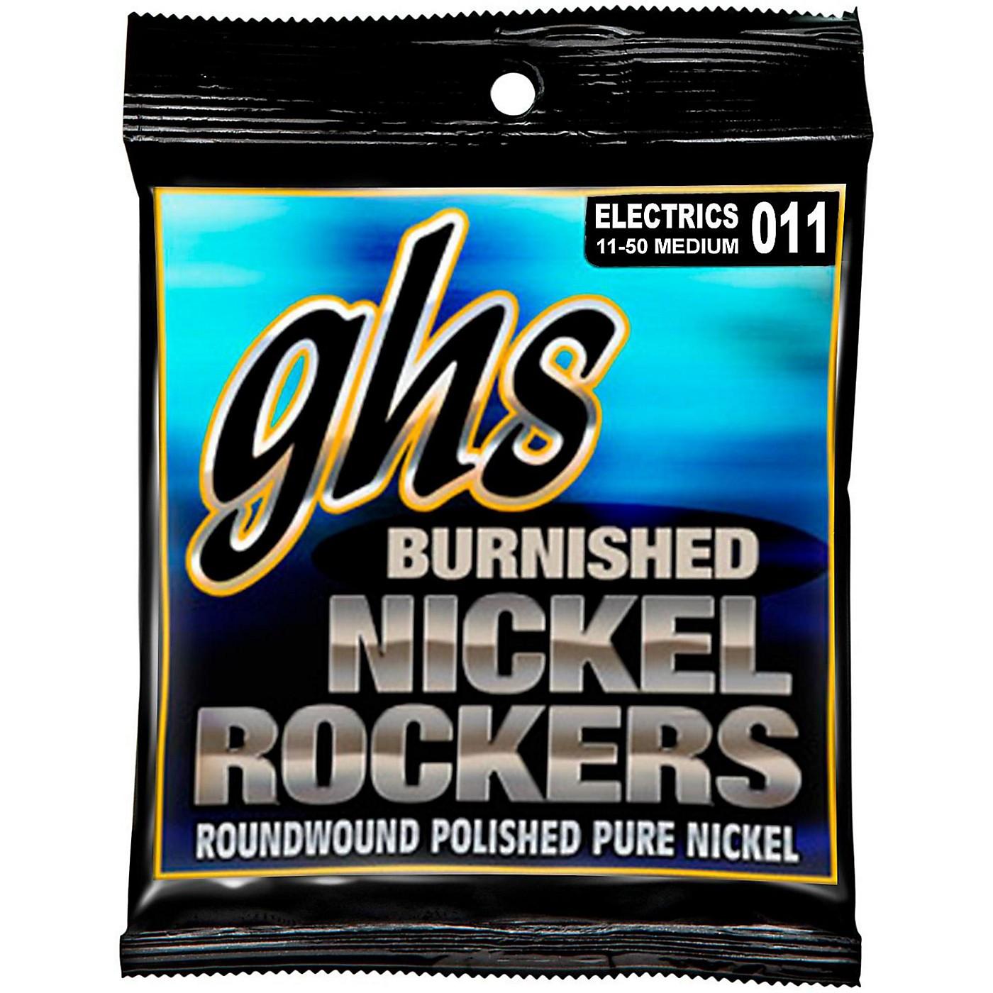 GHS BNR-M Burnished Nickel Medium Electric Guitar Strings thumbnail