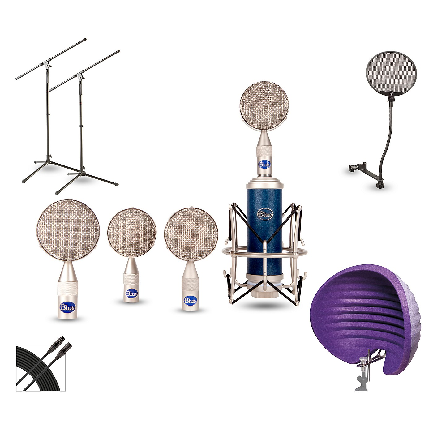 Blue BRS1 HALO Vocal Shield Stand 2-Pack Pop Filter and Cable Kit thumbnail
