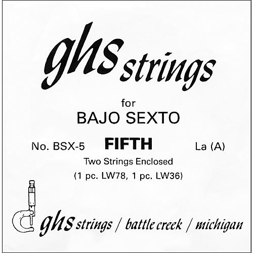 GHS BSX5 Bajo Sexto Single Guitar String thumbnail