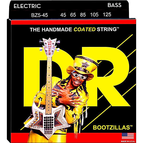 DR Strings BZ5-45 Bootzilla Signature 5-String Bass Strings thumbnail