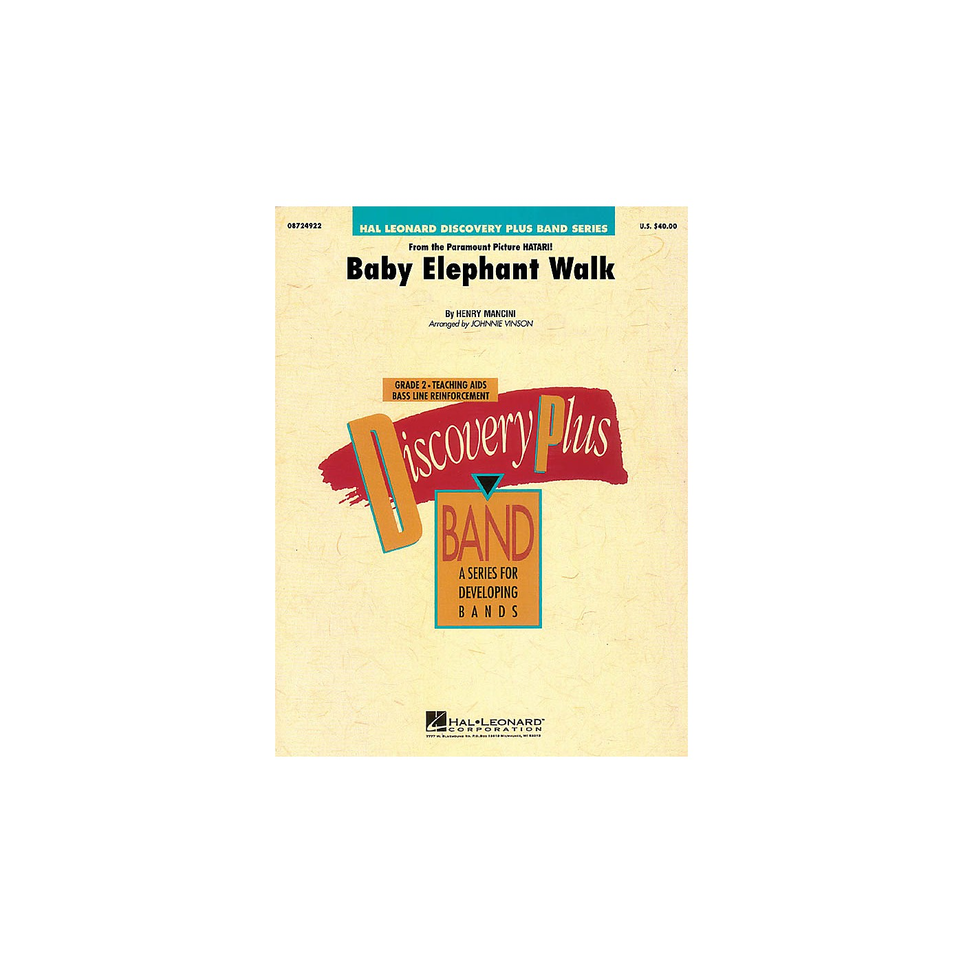 Hal Leonard Baby Elephant Walk - Discovery Plus Concert Band Series Level 2 arranged by Johnnie Vinson thumbnail