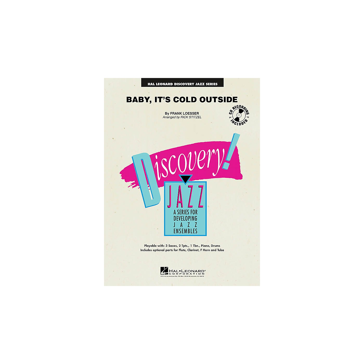 Hal Leonard Baby, It's Cold Outside Jazz Band Level 1-2 Arranged by Rick Stitzel thumbnail