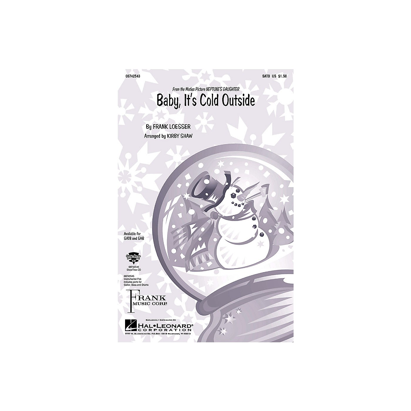 Hal Leonard Baby, It's Cold Outside SAB Arranged by Kirby Shaw thumbnail