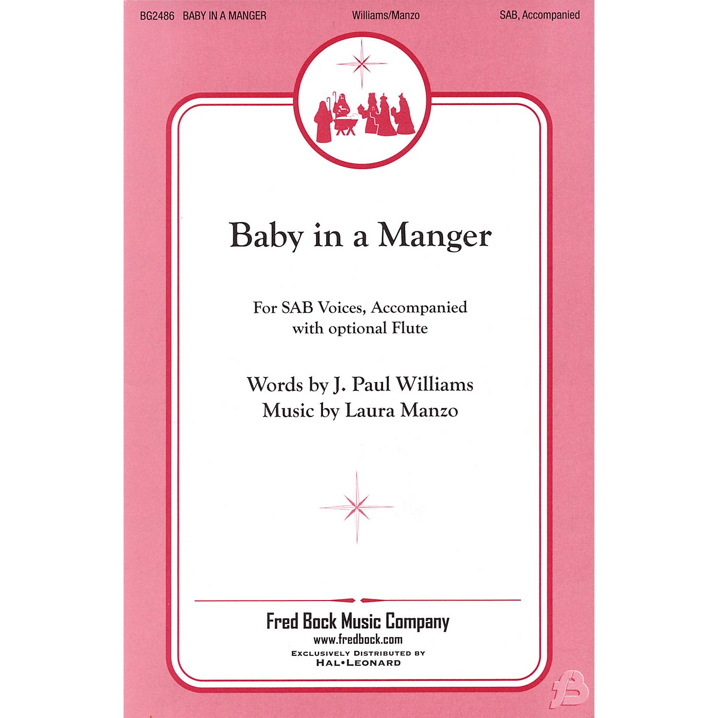 Fred Bock Music Baby in a Manger SAB composed by J. Paul Williams thumbnail