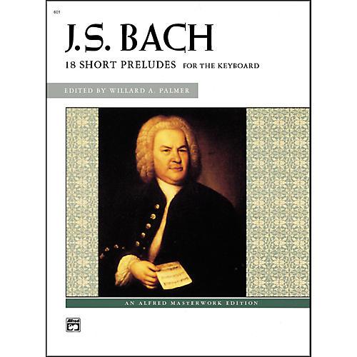 Alfred Bach 18 Short Preludes Intermediate/Late Intermediate Piano thumbnail