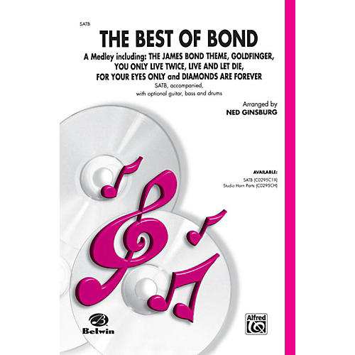 Alfred Bach Best of Bond (A Medley) SATB Choral Octavo thumbnail