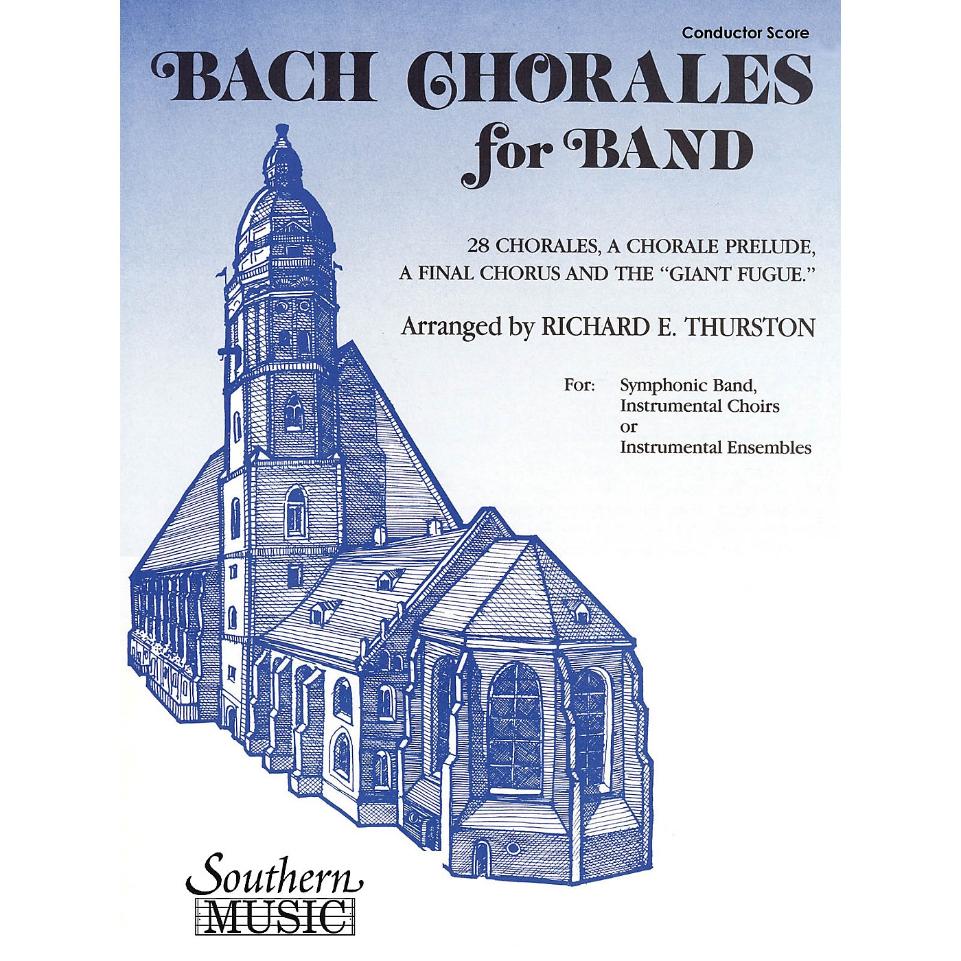 Southern Bach Chorales for Band (Clarinet 2) Concert Band Level 3 Arranged by Richard E. Thurston thumbnail